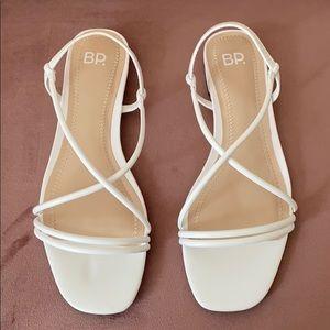 NWT- BP. White Sandals 🤍